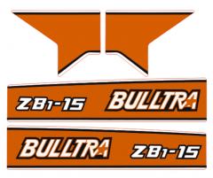 Bonnet decal sticker Kubota Bulltra B1-15