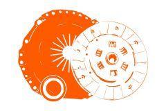 Clutch Kit Hinomoto C142, C144, 172, C174, E1802, E1804, Allis Chalmers 5015, 5215
