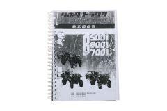 Kubota B5001, B6001, B7001 Parts catalog with technical drawings