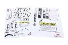 Decal sticker set Kubota B5000, B5001, B6000, B6001, B7000, B7001, B1200, B1400, B1402, B1500, B1502, B1600