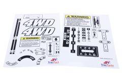 Decal sticker set Iseki TX, TL, TU, TS