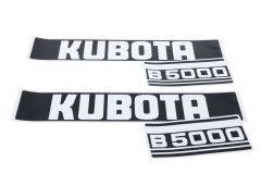 Bonnet decal sticker set Kubota B5000