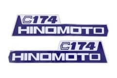 Bonnet decal sticker set Hinomoto C174