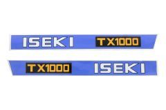 Bonnet decal sticker set Iseki TX1000