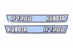 Bonnet decal sticker set Kubota B1200