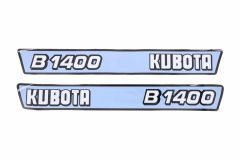 Bonnet decal sticker set Kubota B1400