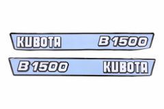 Bonnet decal sticker set Kubota B1500