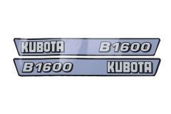 Bonnet decal sticker set Kubota B1600