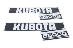 Bonnet decal sticker set Kubota B6000