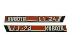 Bonnet decal sticker set L1-24