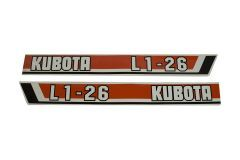 Bonnet decal sticker set L1-26