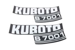 Bonnet decal sticker set Kubota B7001