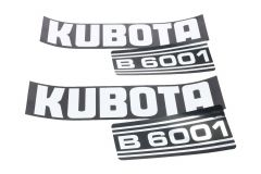 Bonnet decal sticker set Kubota B6001