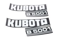 Bonnet decal sticker set Kubota B5001