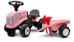 Pink New-Holland Ride On Tractor with trailer and tools