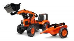 Kubota M135 Pedal Tractor with trailer and Front loader 3 to 7 years