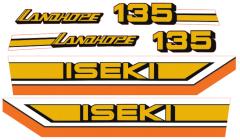 Bonnet decal sticker set Iseki Landhope TU135