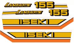 Bonnet decal sticker set Iseki Landhope TU155
