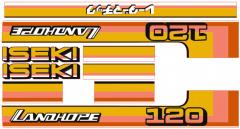 Bonnet decal sticker set Iseki Landhope TU120