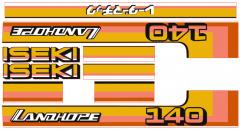 Bonnet decal sticker set Iseki Landhope TU140