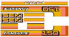 Bonnet decal sticker set Iseki Landhope TU150