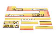 Bonnet decal sticker set Iseki Landhope TU160