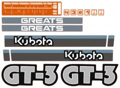 Bonnet decal sticker Kubota GT3