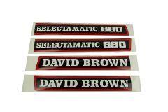 Bonnet decal sticker David Brown 880 Selectamatic