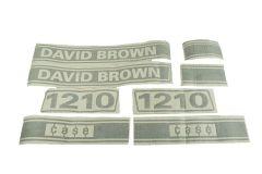 Bonnet decal sticker set David Brown, Case 1210
