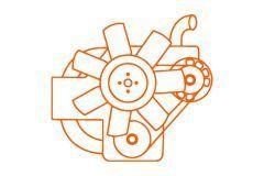 Kubota engine V2203, Bobcat, Case, Schaffer